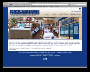 Martin's Restaurant web site