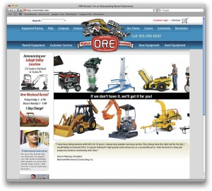 Web Site Design for ORE Rentals