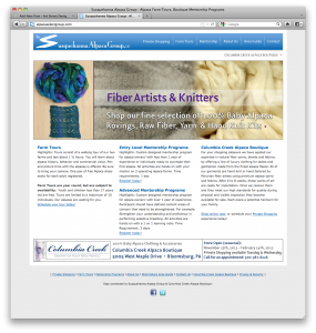 web site design for Alpaca Select Group